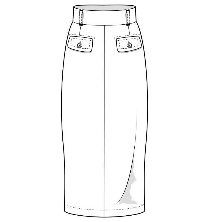 半身裙子款式图
