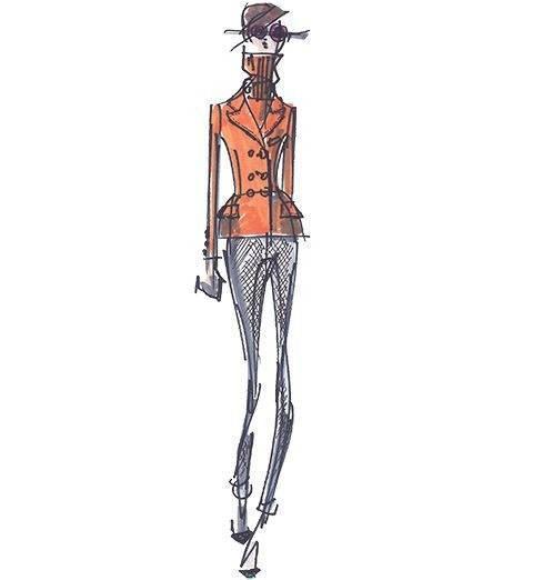 职业装手稿-女装设计-服装设计