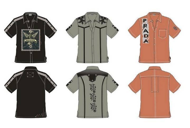 男士衬衫设计图-男装设计-服装设计图片