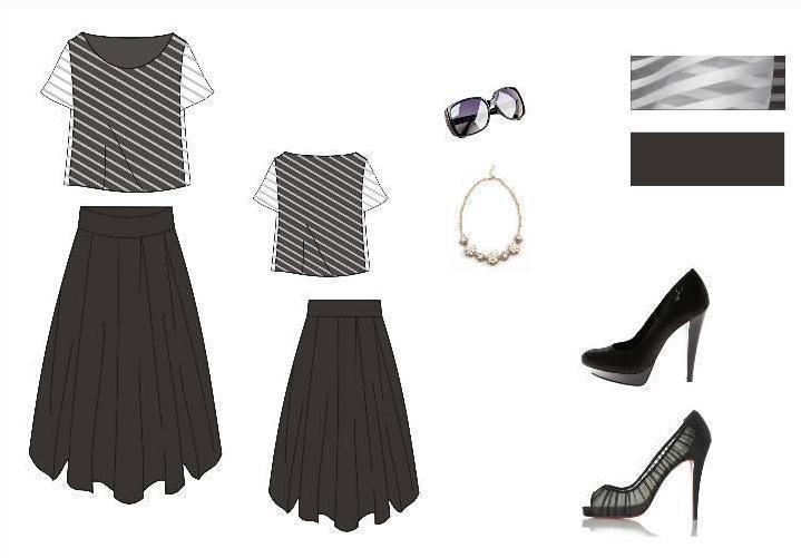 黑白女装系列-女装设计-服装设计