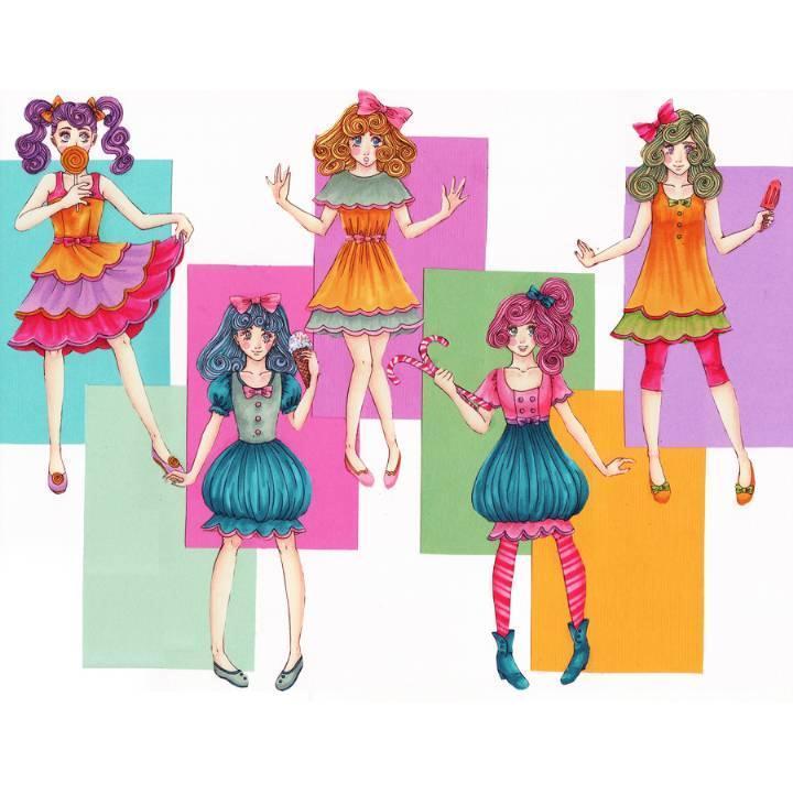 儿童连衣裙系列-童装设计-服装设计