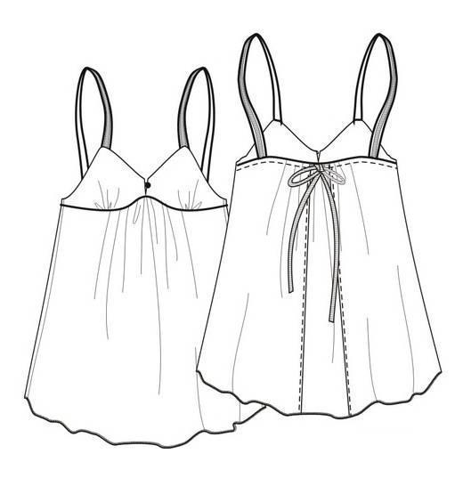 睡衣款式图-内衣/家居设计-服装设计