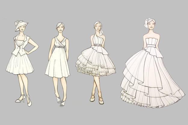 禮服設計稿-婚紗禮服設計-服裝設計