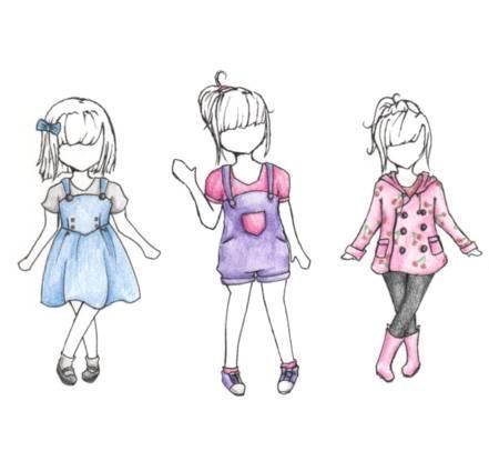 童装手绘效果图-童装设计-服装设计