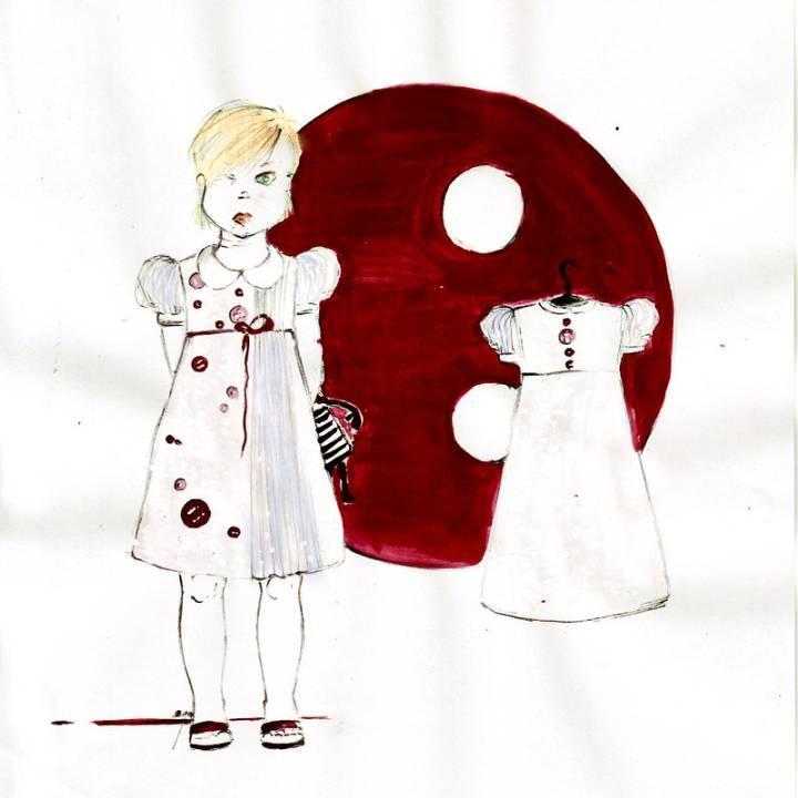 童装连衣裙手绘作品-童装连衣裙手绘款式图