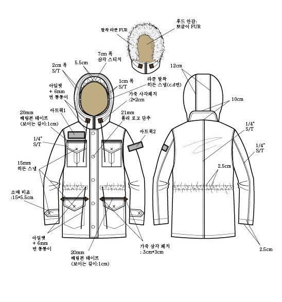 棉衣外套款式图-男装设计-服装设计