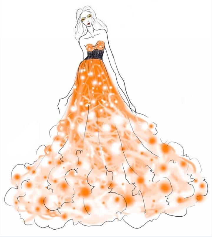 晚礼服设计作品-晚礼服设计款式图