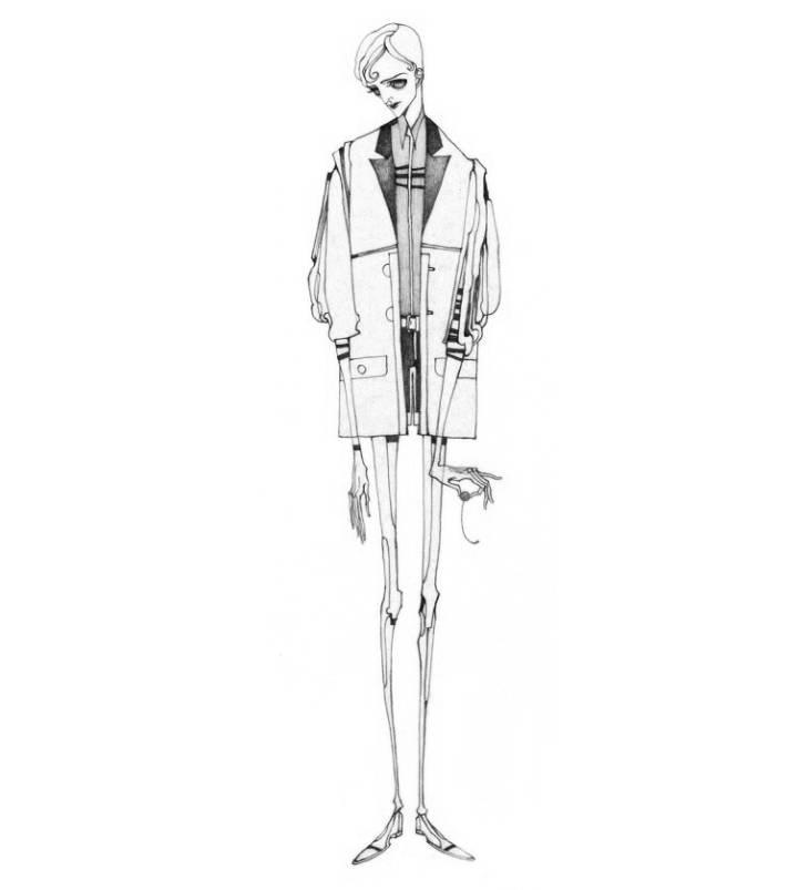 韩版卫衣手绘图稿