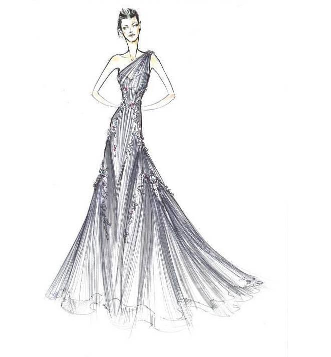 晚礼服设计图稿