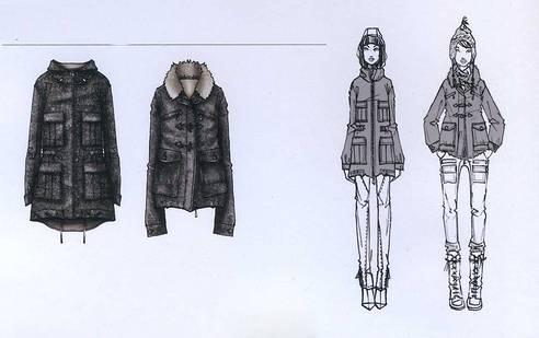 外套大衣款式图
