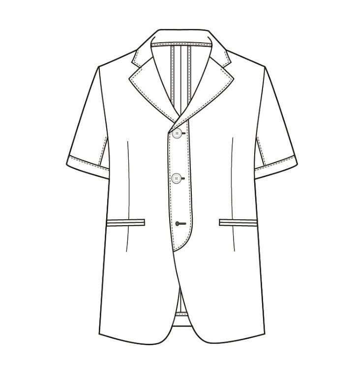 休闲短袖西装款式图
