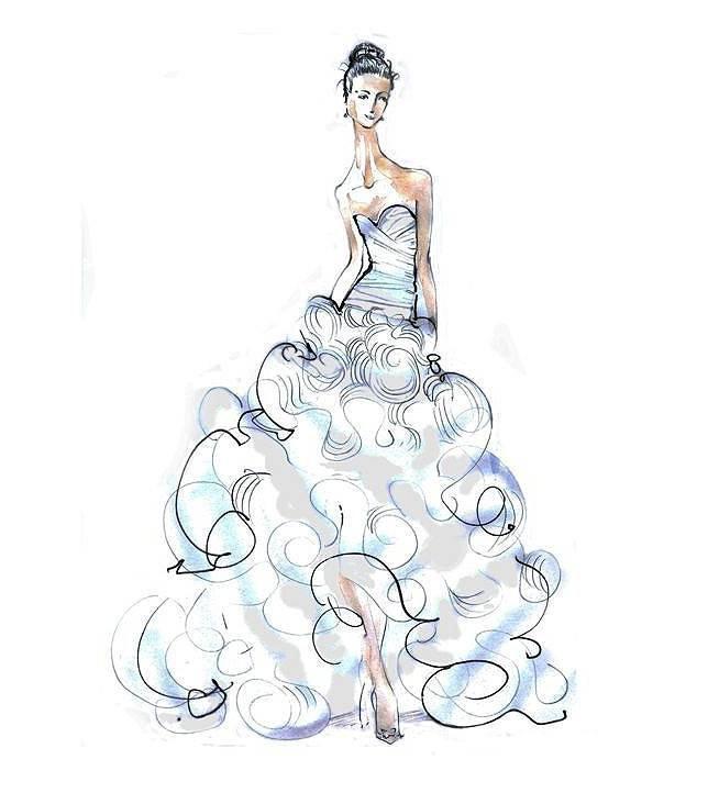 晚禮服設手稿-婚紗禮服設計-服裝設計