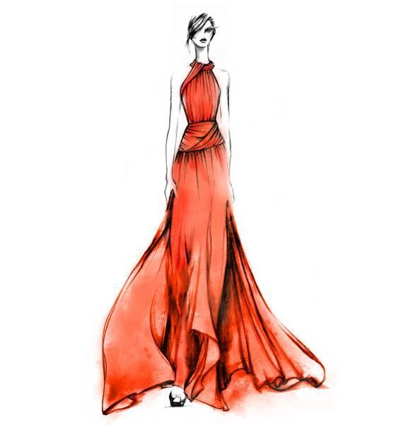 晚礼服设计图稿-婚纱礼服设计-服装设计