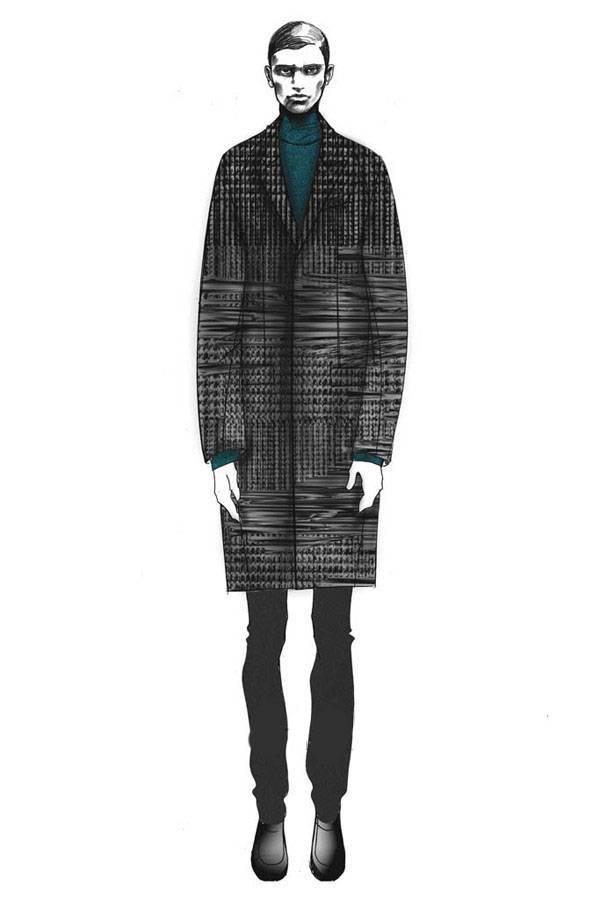 大衣-男装设计-服装设计