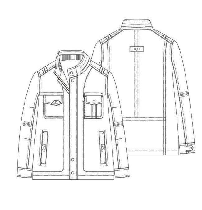 外套款式图男装设计服装设计图片