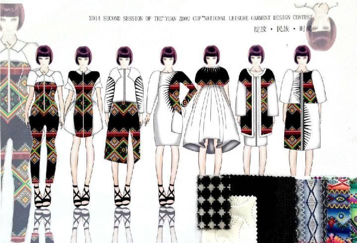 绽放·民族·时尚-大赛作品设计-服装设计