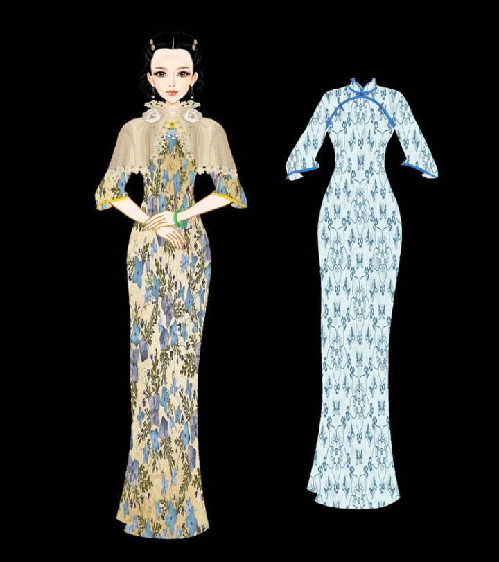 旗袍-婚纱礼服设计-服装设计