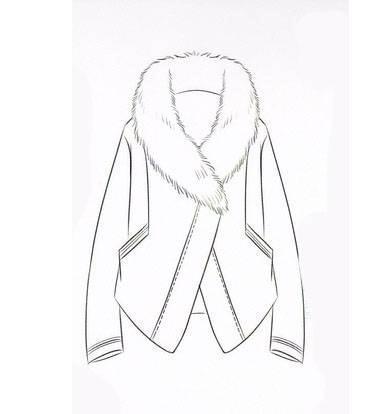 棉衣款式图-女装设计-服装设计