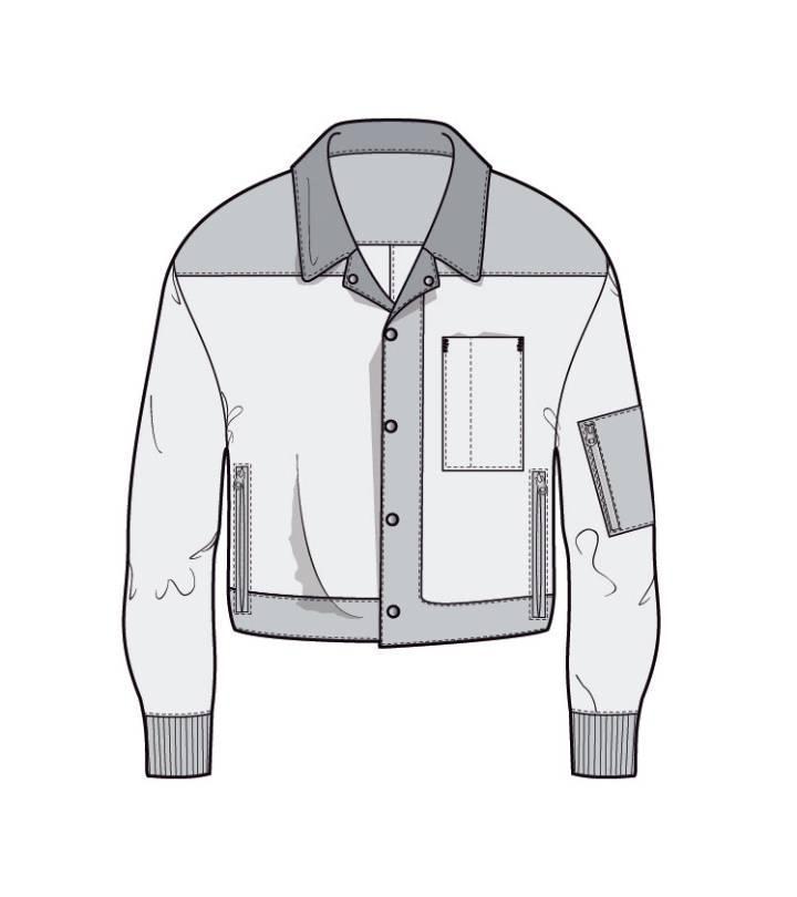 夹克款式图