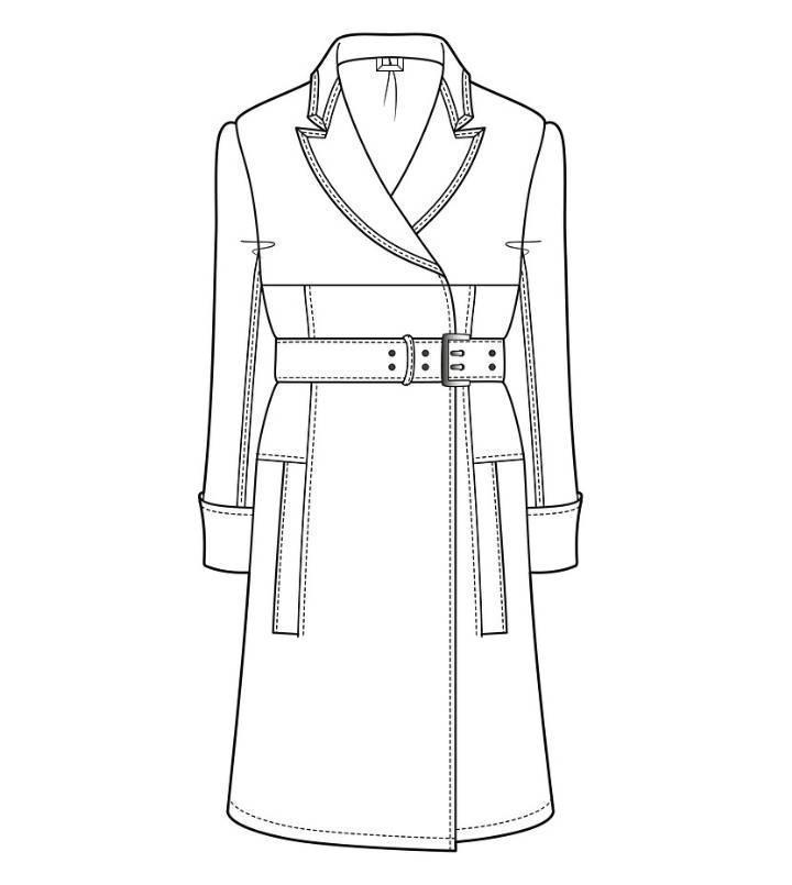大衣风衣款式图