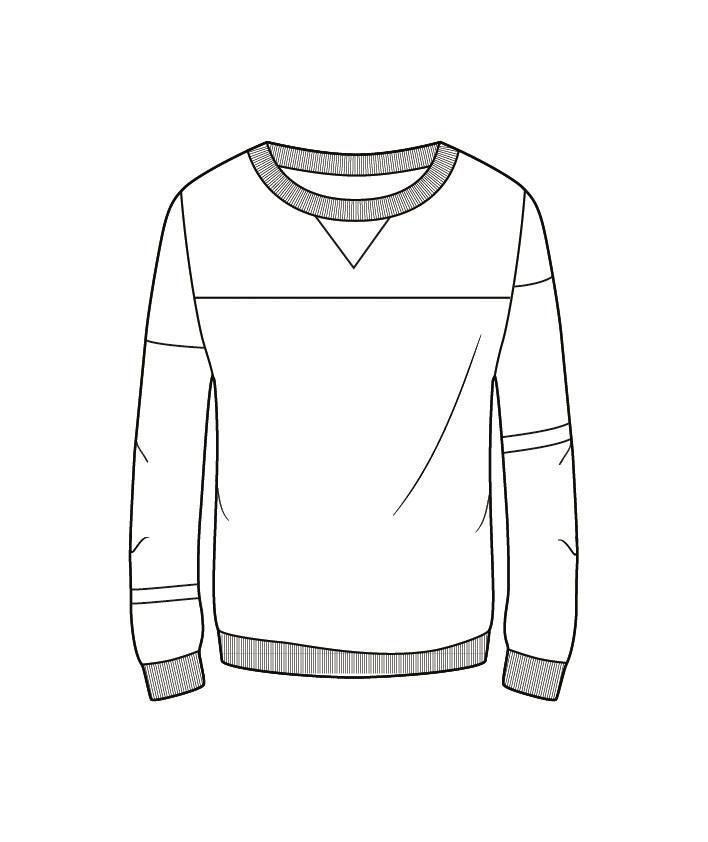 卫衣款式图-男装设计-服装设计
