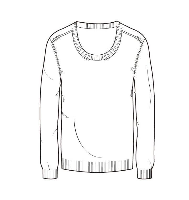 针织衫款式图