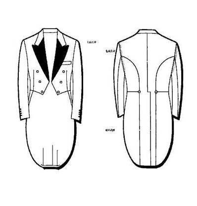 男士礼服款式图-男装设计-服装设计