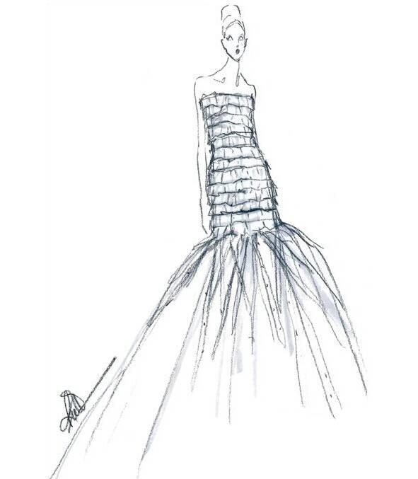 婚纱晚礼服手稿