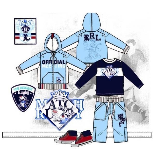 儿童运动装-童装设计-服装设计