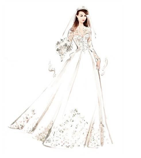 婚纱效果图-婚纱礼服设计-服装设计