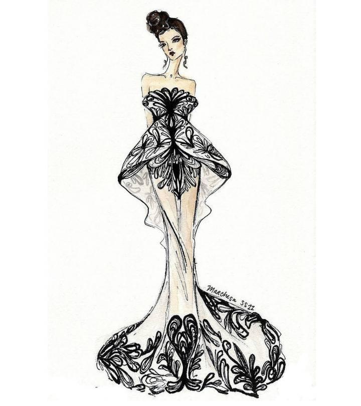 晚礼服设计稿