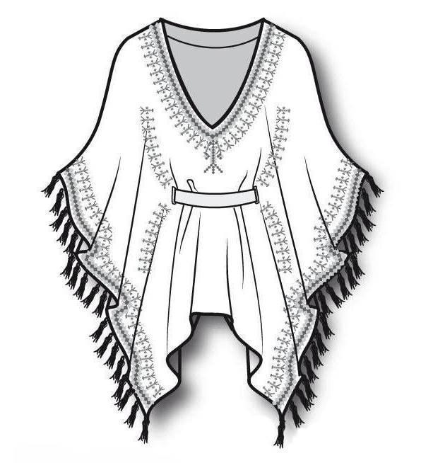 针织外套款式图