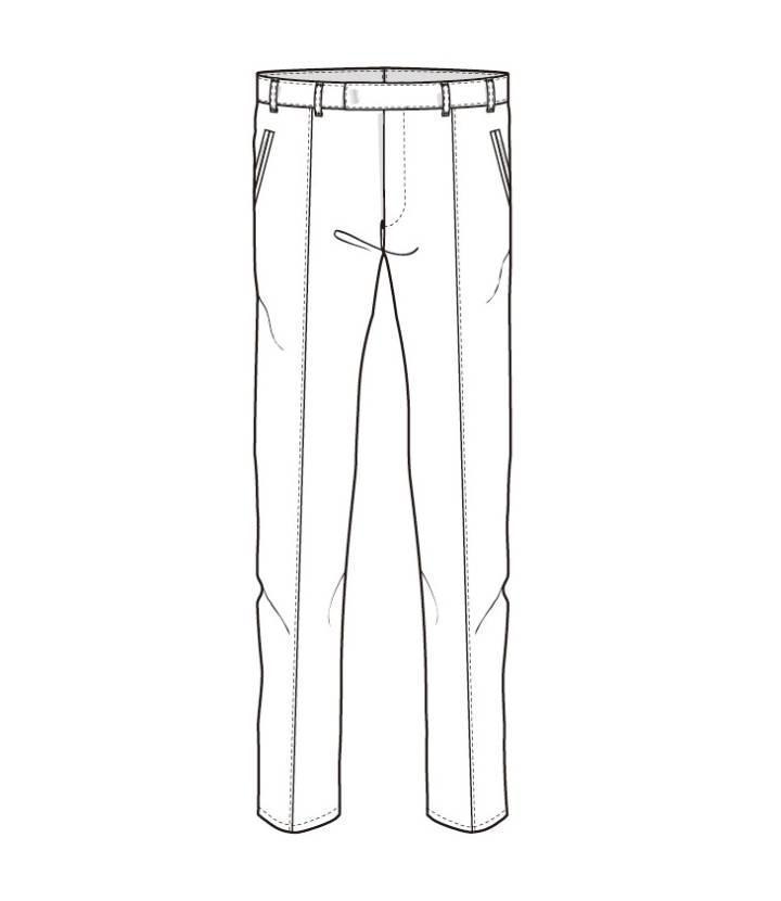 休闲裤款式图