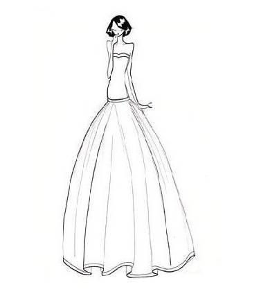 婚纱礼服手稿