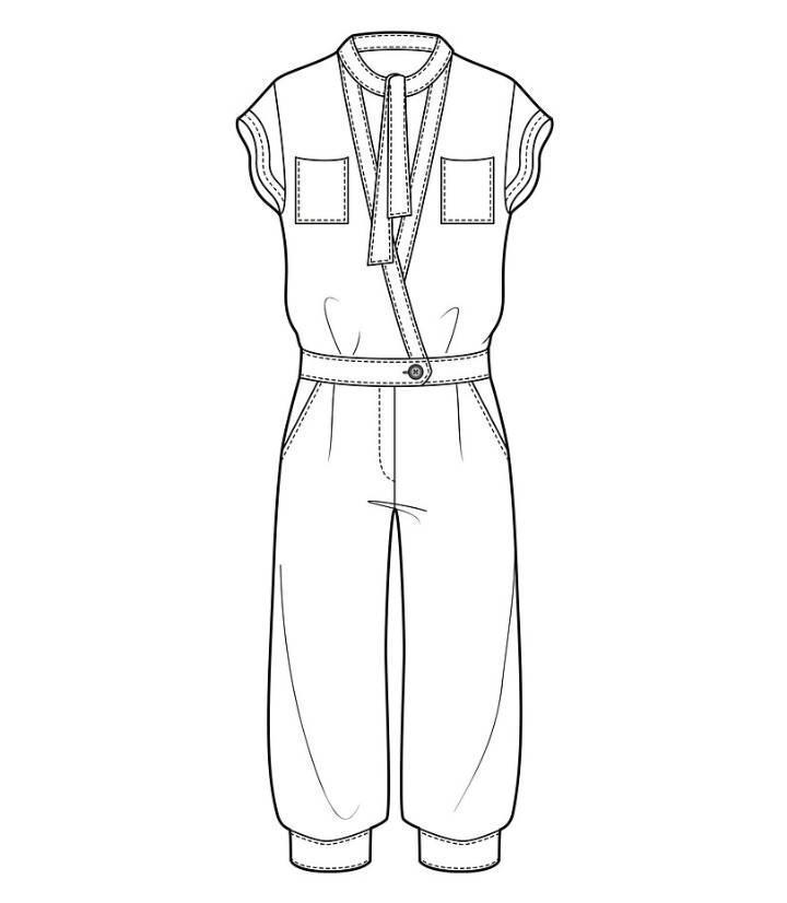 连身裤款式图