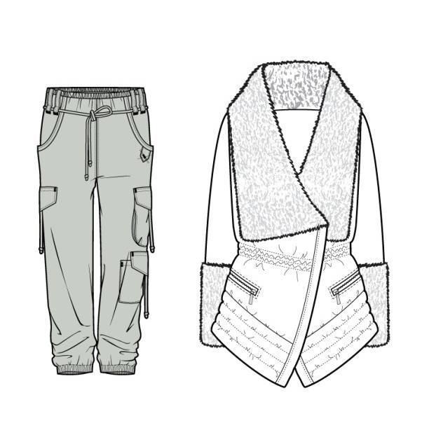 休闲女装款式图-女装设计-服装设计