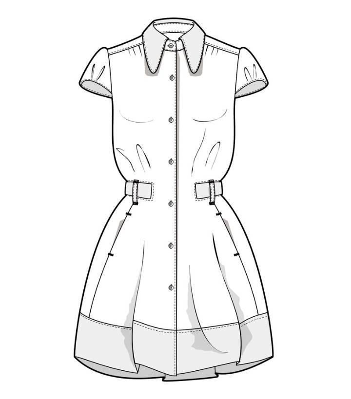 连衣裙子款式图