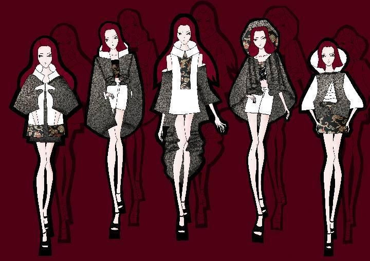 秋冬系列-女装设计-服装设计