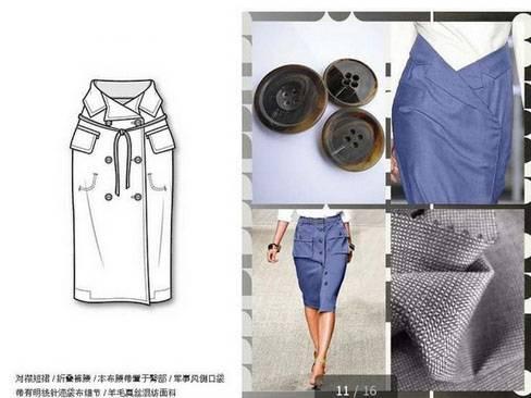 裙子款式图