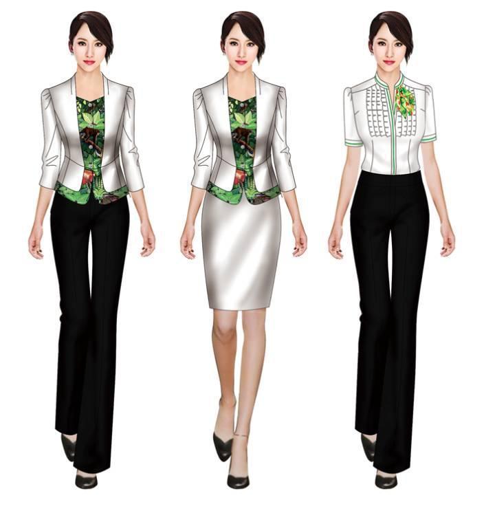 职业装效果图-职业服装设计-服装设计