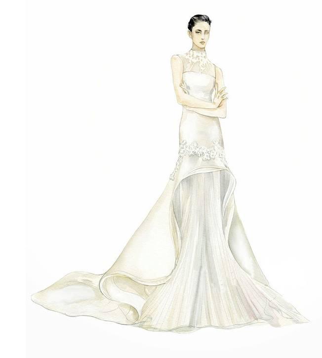 婚纱手绘效果图
