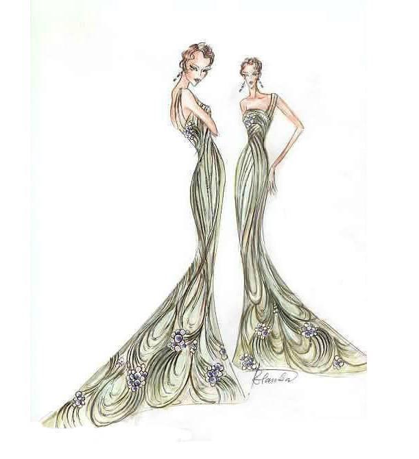 礼服设计图稿
