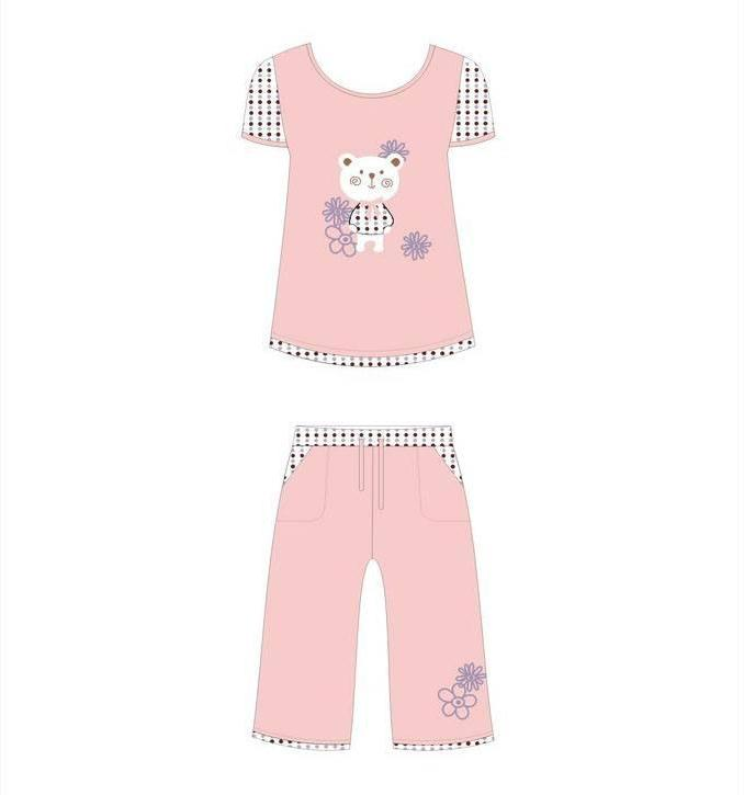 童装睡衣款式图-内衣/家居设计-服装设计图片