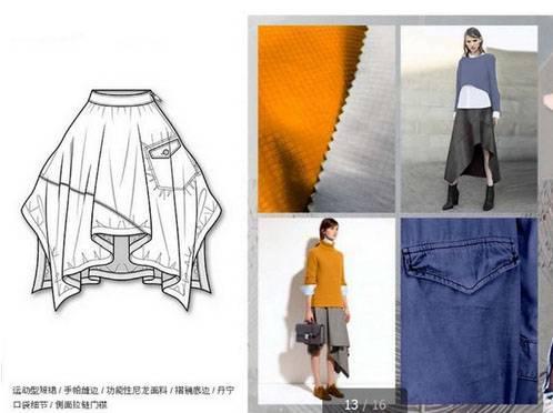 不规则裙子款式图-女装设计-服装设计