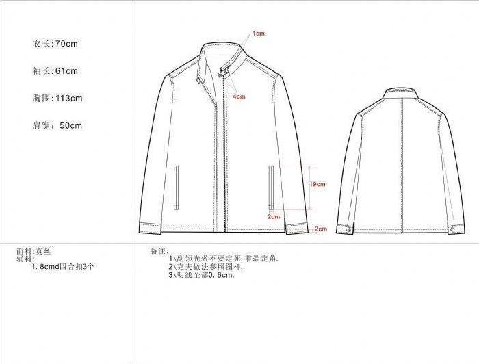 外套款式图工艺单-男装设计-服装设计