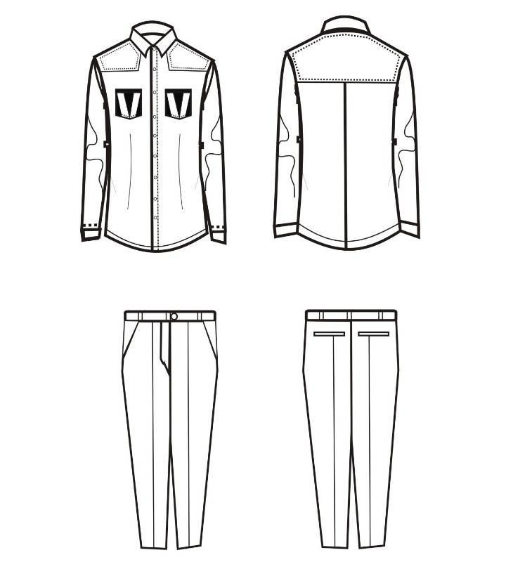 男士休闲套装款式图-男装设计-服装设计