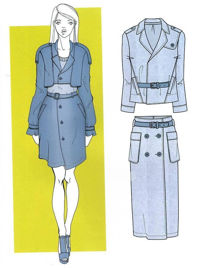 时尚套装款式-女装设计-服装设计图片