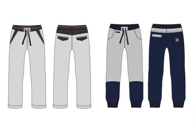 运动休闲裤款式图