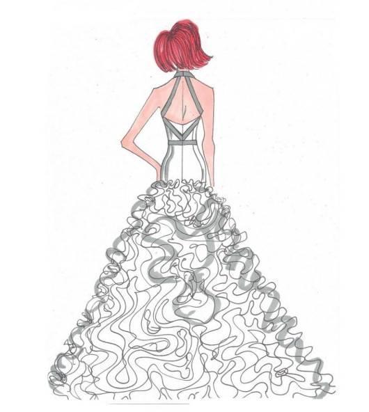 婚纱手稿-婚纱礼服设计-服装设计
