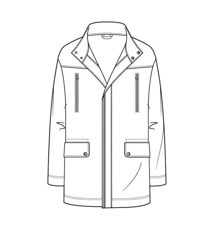 大衣风衣款式图-男装设计-服装设计